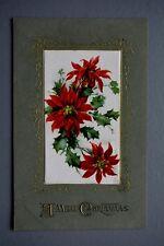 R&L Postcard: Christmas Poinsettia Flower