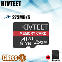 KIVTEET Micro Memory Card 256GB Class10 Flash TF 275MB/s for Phone Tablet Camera