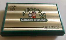 NINTENDO GAME WATCH MULTI SCREEN GREEN HOUSE MODEL GH-54 FONCTIONNE JAPAN 1982