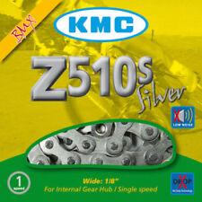 Cadenas KMC plata para bicicletas BMX