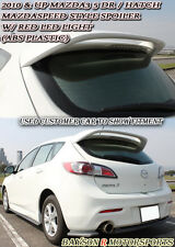 MS-Style Rear Roof Spoiler (ABS) + Clear Lens LEDs Fits 10-13 Mazda 3 Hatch 5dr