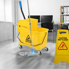 Mini Mop Bucket Withwringer Combo 5 Gallon Commercial Rolling Cleaning Cart Yellow