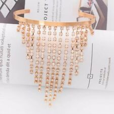RHINESTONE CRYSTAL DIAMANTE SILVER/GOLD ARM CUFF BODY CHAIN UK SELLER AC1