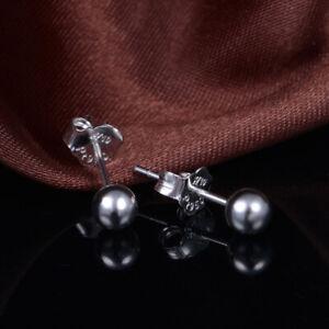 NEW Pure Platinum 950 Stud Earrings 4mm Shiny Ball Stud