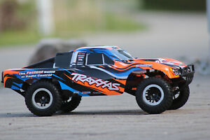Traxxas 58076 -4 Orange Slash Vxl Brushless short Course Truck 1:10 Tsm 2WD New