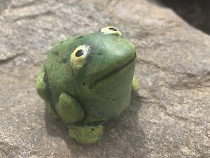 Concrete Frog Statue Cement Outdoor Garden Yard Patio Decor Toad Painted Figure