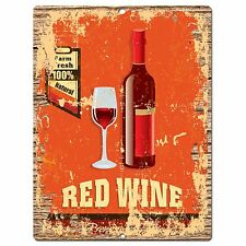 PP0852 RED WINE Parking Plate Chic Sign Home Kitchen Restaurant Cafe Decor Gift