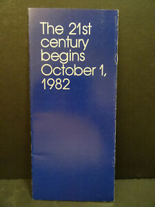1982 Walt Disney Productions 21st Century Begins October 1, 1982 Epcot Center