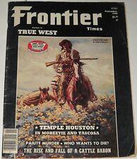 Frontier Times Magazine September 1980 Mountain Man Temple Houston Paiute Murder