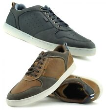 Mens Smart Trainers Casual Real Leather Sneakers Office Everyday Lace Up Shoes