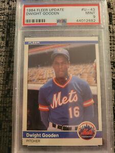 1984 Fleer Update #U-43 Dwight Gooden PSA 9 MINT RC Rookie Mets
