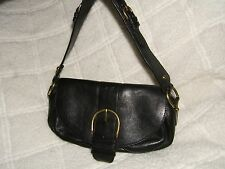 "Banana Republic Black Pebbled Leather Hobo Handbag - 11.5"" x 5"""