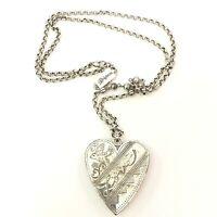 Brighton Zanzibar Heart Reversible Cream Crystals Pendant Necklace New tags $88