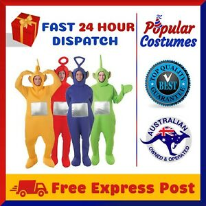 Teletubbies Adult Jumpsuit Party Fancy Dress Up Unisex Outfit Halloween Costume