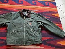 Vintage Carhartt Men's J97 Mos Green Detroit Blanket Lined Canvas Jacket  XL Reg