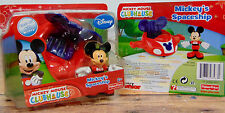 NEW Disney MICKEY'S SPACECRAFT Airplane Car & FIGURINE Clubhouse 2 PC Play SET!