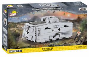 Sturmpanzerwagen A7V - COBI 2982 - WWI 575 brick WWI heavy tank
