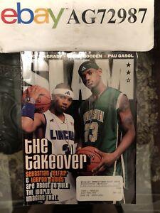LeBron James Slam Magazine LeBron Rookie Magazine King James High School LeBron