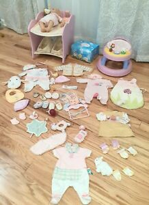 Zapf Baby Annabell Doll HUGE LOT ONLY ONE ON EBAY