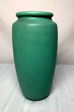 TECO POTTERY, MATTE GREEN LARGE TAPERED SWOLLEN FORM, ARTS & CRAFTS, VERY NICE~~