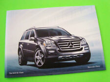 2010 Mercedes Benz GL CLASS SPORT UTE CATALOG Brochure 18-pg w/ COLOR SELECTIONS