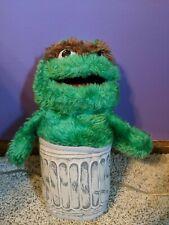 Vtg Sesame Street Pals Oscar Grouch Hand Puppet Plush Stuffed Toy Playskool 1986