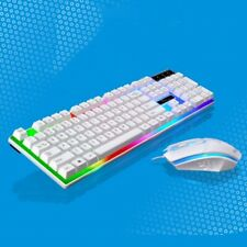 Wired LED Backlit Ergonomic Gaming Keyboard + Gamer Mouse Set For PC Laptop USA