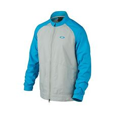 OAKLEY BRYANT WIND JACKET NEW MENS SIZE XL ZIP BLUE GRAY WATER REPEL 411886