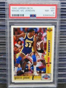 1991-92 Upper Deck Magic VS. Jordan Classic Confrontation #34 PSA 8 (29) D262