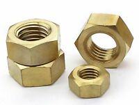 Select Size M6 M8 M10 M12 - M24 Solid Brass Thin Hex Nuts Right Hand Fine Thread