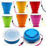 Travel Silicone Folding Cup Colourful Outdoor Camping Telescopic Collapsible