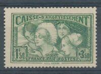 FRANCE N°269, 1f.50+3f.50 vert-jaune NEUF LUXE ** COTE 350€ P1536