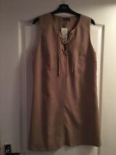 BNWT Ladies Beige Dress By Miss Selfridge (Size 16)