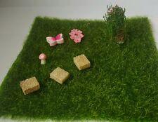 Grass landscape Miniature Fairy Garden Terrarium Decor stepping stones 8pcs