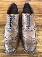 "Men's Allen Edmonds ""Neumok"" Wingtip Shoes Brown Soft Leather Size 8.5 D"
