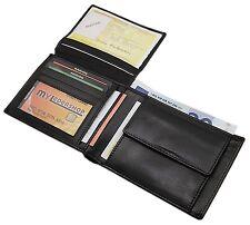 Echt Leder monedero monedero Unisex negros billetera J-neff Germany