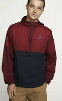 Nike SB Skate Hoodie Anorak  Jacket Half Zip  Men's Red  Packable AO0296-677 M