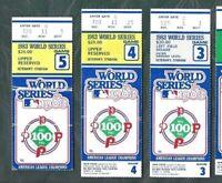 1983 World Series ticket stub lot of 3 Baltimore Orioles Philadelphia Phillies