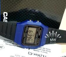 CASIO F91WM-2A DIGITAL BLACK RESIN Classic Sports Alarm Chronograph WATCH NEW