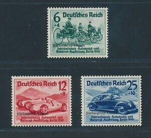 """DT. REICH 1939, Mi. 695-97 **, """"Nürburgring"""" kplt.!! Mi. 300,--!!"""