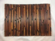 """Bamboo Placemats Set Of 4 20""""x14"""" beach pool tiki decor summer table"""