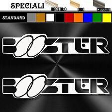 coppia adesivi sticker mbk BOOSTER prespaziato scooter,casco 19,5cm