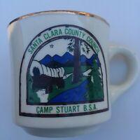 Vintage BSA Santa Clara County CAMP STUART Boy Scouts America  Mug Coffee Cup