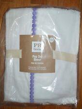 "Pottery Barn Teen Pop Dot Sheer Drape Curtain Panel Lavender Purple White 108"""