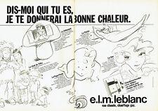 Publicité Advertising 088  1983   E.L.M  Leblanc eau chaude chauffage  (2 pages)