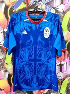 Great Britain Olympic Football Team London 2012 Shirt Jersey Adidas Mens size M