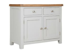 Dorset Oak Sideboard Cupboard Pine 2 Door 2 Drawer Solid Painted French Grey