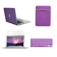 "4 in 1 PURPLE Rubberized Case for Macbook Pro 13"" A1425 Retina+Key +LCD+BAG"