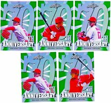 2018 Leaf Metal 70th Shohei Ohtani Rookie RC PRISMATIC GREEN LOT of 5: All /10!