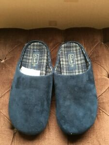MEN'S NAVY BLUE SLIPPERS SIZE 9 FROM CLARK'S
